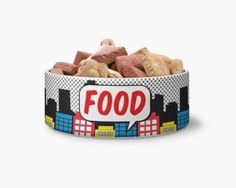 Comic Ceramic Pet Bowl - Personalized Dog Bowl - Ceramic Pet Bowl - Personalized Bowl - Monogrammed Bowl - Monogrammed Dog Bowl