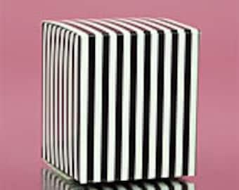 Black Striped Boxes - 6 Quantity