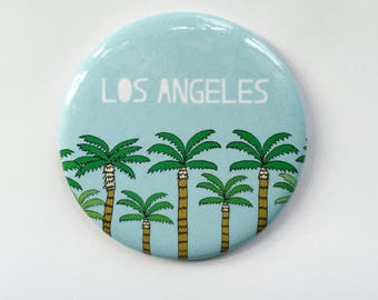 Los Angeles LA Palm Trees California Magnet
