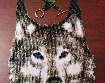 Peyote pattern for my Medium Wolf Necklace