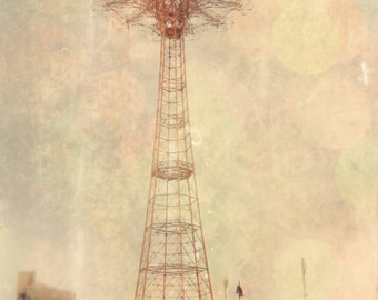 Coney Island - 8x10 photograph - Parachute Jump - fine art print - vintage photography -Brooklyn New York art