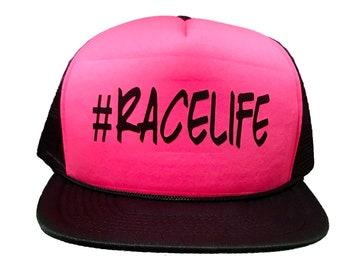 RACELIFE Trucker Style Snapback Hat
