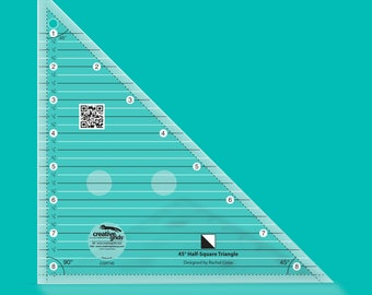 45 Degree Half-Square Triangle Ruler by Creative Grids (CGRT45)