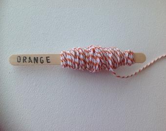 20m bakers twine string orange cotton beading macrame jewellery twine yarn packaging