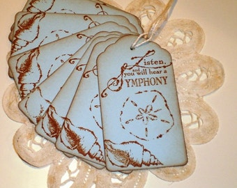 Beach Theme Gift Tags Inspirational Gift Tags Shower Tags Party Tags Pricing Tags