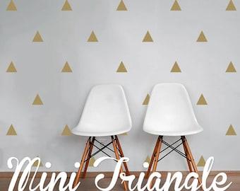 Mini Triangle Wall Decals, Geometric Wall Design, Customize Nursery and Interior Walls WAL-GEO3