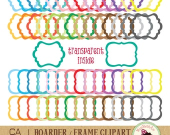 Boarders Clipart . Frame label - Instant Download