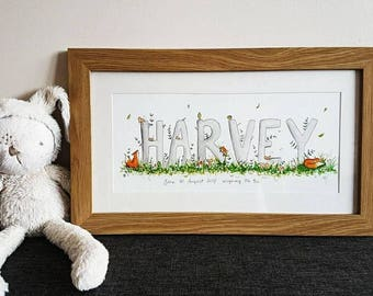 Hand painted Childrens Names - Personalised