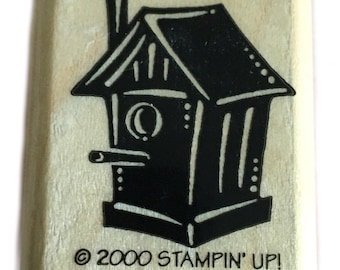Rubber Wood Stamp Stamping Crafting Stampin Up Bird House