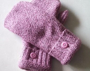 Gorgeous pink mittens