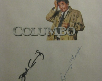 Columbo Signed TV Script Screenplay X6 Autograph Murder by the Book Peter Falk Steven Spielberg Jack Cassidy Rosemary Forsyth Martin Milner
