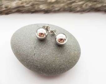 Sterling Silver Studs, Post Earrings, Everyday Earrings, Bridal Earrings, Silver Ear Studs, Simple Earrings, Silver Earrings, Gift for Women