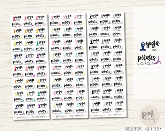 Yoga/Pilates Stickers - Planner Stickers - FS12