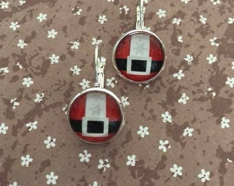 Earrings sleeper Christmas belt