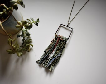 LUPINE - woven necklace, woven jewelry,