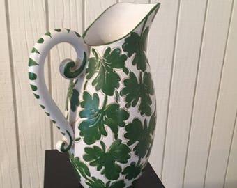 Vintage Large Italian Ceramic Pitcher