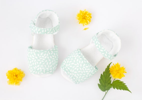 Mint Green sandals baby girls pre walkers