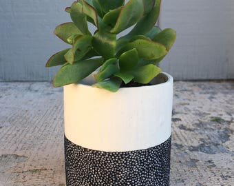 Handmade Two-Tone Magnetic Planter