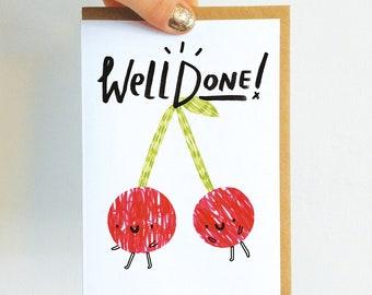 Well Done Cherries Birthday Card