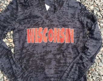Wisconsin Burnout Hoodie