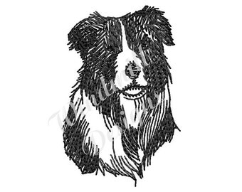 Border Collie - machine embroidery design