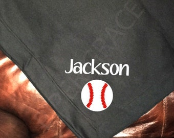 Baseball Blanket, Baseball Gifts, Baseball Gifts for Boys, Stadium Blanket, Sweatshirt Blanket, Personalized Blanket