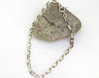 vintage sterling silver link bracelet   ...  silver chain bracelet