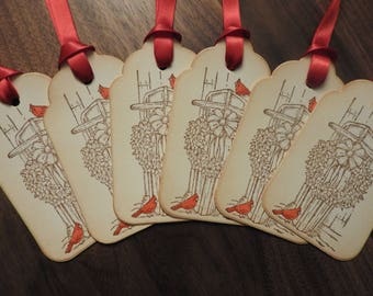 Vintage inspired Christmas tags - set of 6