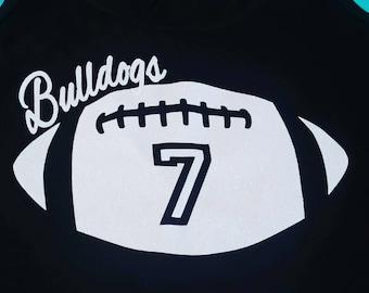 Football Shirt, Football Mom Shirt, Personalized Football Shirt, Woman's Football Shirt, Spirit Shirt, Football, Football Tank, Spirit Wear