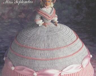 Annie's Attic Crochet Bed Doll Pattern September 1991 Antebellum Barbie Doll Dress Original pattern