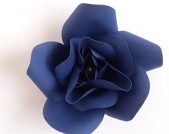 Navy Blue Paper Flower