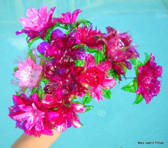Water Bottle Flowers: Items Similar To Flowers Custom Made To Order 1 Dozen Any