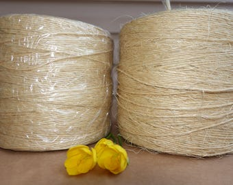 Sisal Twine Cord, Sisal Twine Rope, Rustic String, nearly 3.3kg, around 2mm-2.5mm sisal cord, Sisal Rustic String Cord