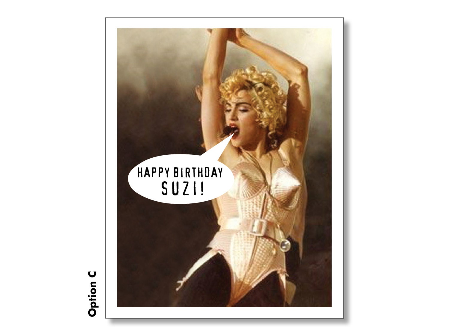 Madonna happy birthday card personalized madonna card super zoom bookmarktalkfo Image collections