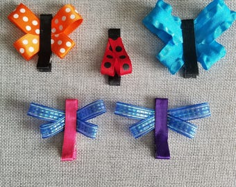 3 Bug Barrettes - Mix and Match 3 Clips