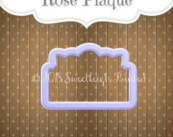 Rose Plaque Cookie Cutter.