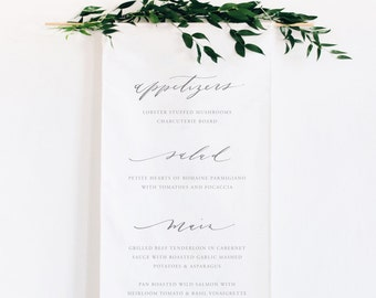 Calligraphy Wedding Menu Banner