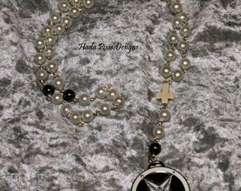 LAST CHANCE! White and Silver Baphomet