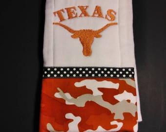 Texas Longhorns Burp Cloth