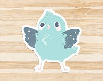 Blue Birb Sticker