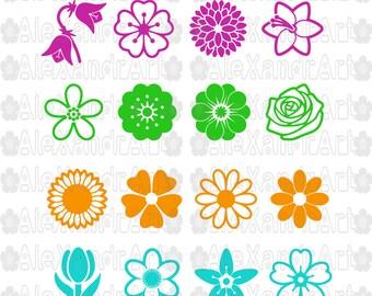 Flowers SVG,DXF,PNG,jpg,eps,49 files,flower svg, flowers desings svg,petals svg,ornament svg,Daisy flower svg,rose flower svg