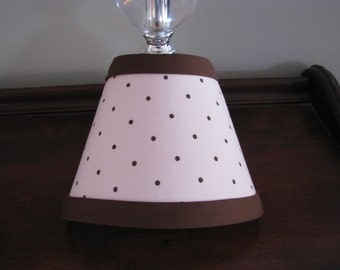 Pink and Brown polka dot night light