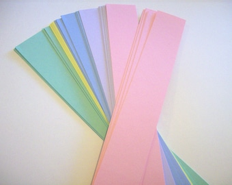 """Belly band, set of 50, pastel bands, soap bands, product bands 1 1/2 x 11 """", wraps"""