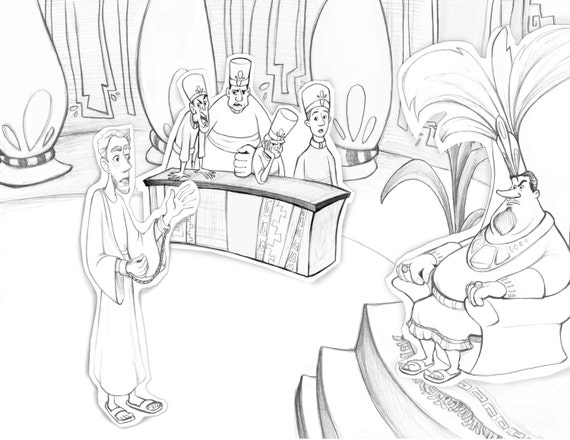 Book Of Mormon Abinadi Coloring Page Teaching Aid Primary Lesson King Noah LDS Latter Day Saint Scripture Story FHE From PacePaintings On