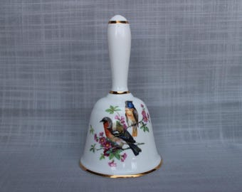 Countess Bone China Bell Bird Design, Beautiful English Bell, Collectable Large Bell, Dinner Bell, made in England