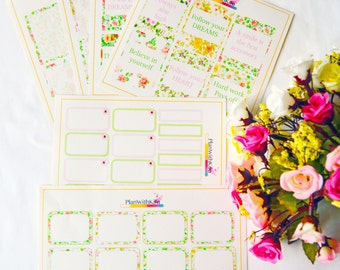 May Flowers and Motivational Quotes Theme for Vertical Planners (ECLP)