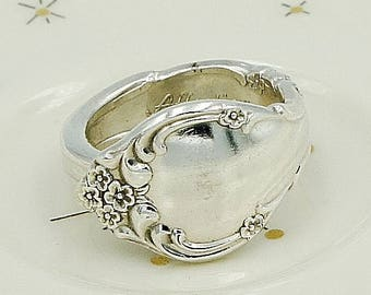"""Vintage Spoon Ring Flatware Upcycled Silverware Jewelry """"Affection"""" Year 1960"""