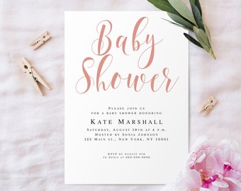Baby shower invite etsy rose baby shower invitations template baby shower invites girl baby shower invite editable rose gold baby filmwisefo Choice Image