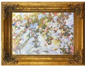 """Les Roses by Claude Monet (8"""" x 10"""") Mini Fine Art"""