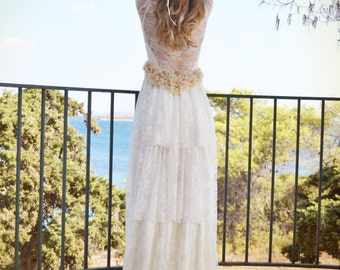 Wedding Dress, Beach Wedding Dress, Boho Wedding Dress, Lace Wedding Dress, Simple Wedding Dress, Alternative Wedding Dress, Wedding Dress